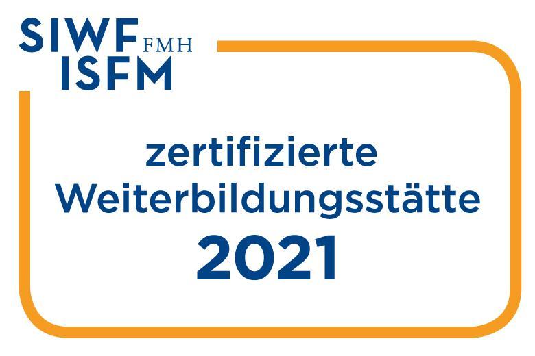 Zertifizierte Weiterbildungsstätte SIWF 2021